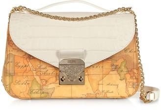 Alviero Martini Jolie Coated Canvas & Embossed Shoulder Bag