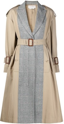 Alexander McQueen Panelled Mid-Length Trench Coat