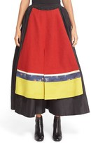 Undercover Women's Wool Trim Silk Skirt
