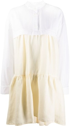 Marni Ruffle Tiered Shirt Dress