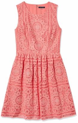 Tommy Hilfiger Women's Double Motif Lace Dress