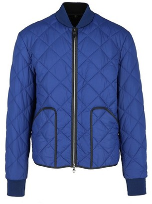 Dunhill Lightweight Zip Front Quilted Bomber Jacket