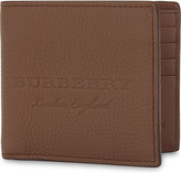 Burberry Embossed logo leather wallet