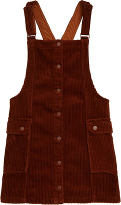 Tractr Button Front Pinafore Dress