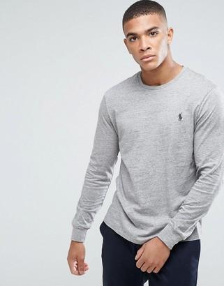 Polo Ralph Lauren long sleeve top player logo in grey marl
