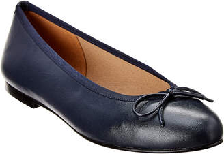 French Sole Emerald Leather Flat