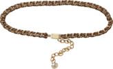 Dolce & Gabbana Walnut Chain Belt