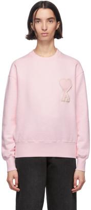 Ami Alexandre Mattiussi SSENSE Exclusive Pink Ami De Coeur Sweatshirt