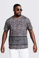 BoohooMAN Big & Tall Animal Print T-Shirt
