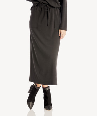 Sole Society The Good Jane Women's Franco Midi Skirt In Color: Black Size XS From