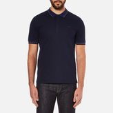 Hugo Darese Collar Detail Polo Shirt Navy
