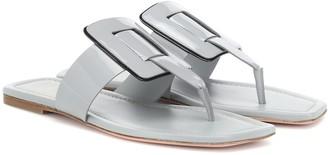 Roger Vivier Viv' Sellier patent leather sandals