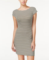 Teeze Me Juniors' Cutout-Back Striped Bodycon Dress
