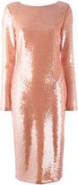 Tom Ford longsleeve sequin dress - women - Silk/Polyamide/Spandex/Elastane - 38