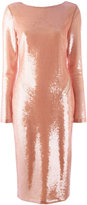 Tom Ford longsleeve sequin dress - women - Silk/Polyamide/Spandex/Elastane - 42