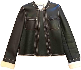 Chanel Black Shearling Jackets