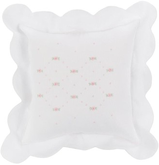 Mariella Ferrari Floral Embroidered Pillow Cover