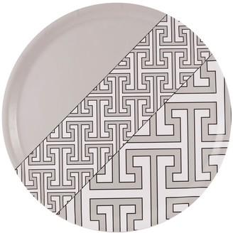 O.W. London Maze Grey White Round Tray