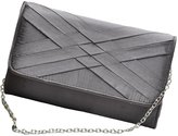 Tina Women's Elegant Braided Flap Buckled Handbag Clutch Envelpe Bag