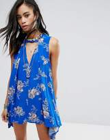 Free People Printed Snap Out Of It Rayon Dress