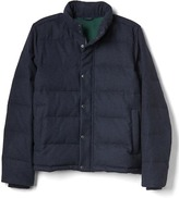 Gap ColdControl Max wool blend puffer jacket
