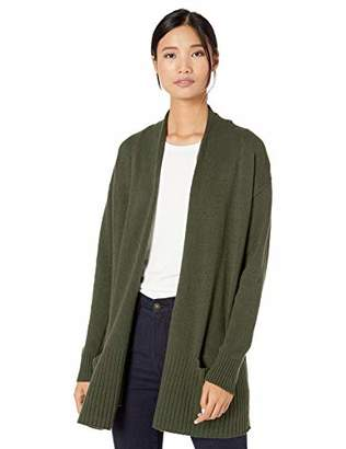 Goodthreads Wool Blend Jersey Stitch Cocoon Sweater Cardigan, Grey, S