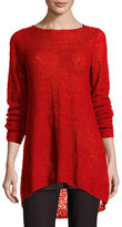 Eileen Fisher Linen Bateau-Neck Tunic