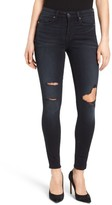 Good American Women's Good Legs High Rise Ripped Skinny Jeans
