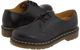 Dr. Martens 1461 3-Eye Gibson (Black Smooth) Lace up casual Shoes