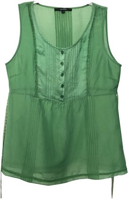 Hallhuber Green Cotton Top for Women