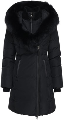 Mackage Kay-bx Nylon Down Jacket W/ Fur