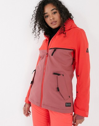 Billabong Eclipse ski jacket in neon pink