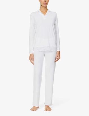 La Perla Long-sleeved stretch-jersey pyjama set
