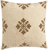 """Callisto Home Como Beaded Velvet Pillow, 22""""Sq."""