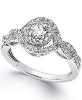Macy's 14K White Gold White Sapphire (3/4 ct) Ring