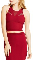 BCBGeneration Perforated Panel Crop Top