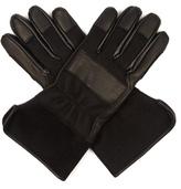 Balenciaga Leather-panelled Felt Gloves