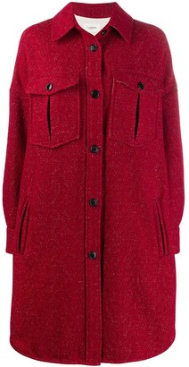 Etoile Isabel Marant Knitted Single Breasted Coat