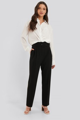 NA-KD Belted Straight Leg Suit Pants