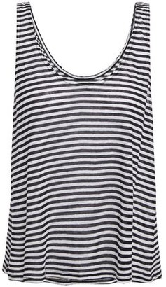 Enza Costa Striped Slub Linen-blend Jersey Tank