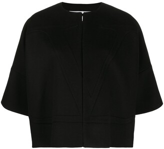 Valentino VLOGO cape style jacket