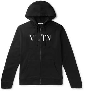 Valentino Logo-Print Loopback Cotton-Jersey Zip-Up Hoodie