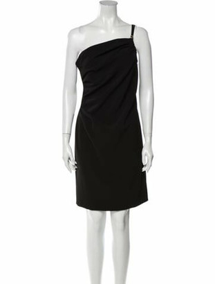 Boutique Moschino One-Shoulder Knee-Length Dress Black