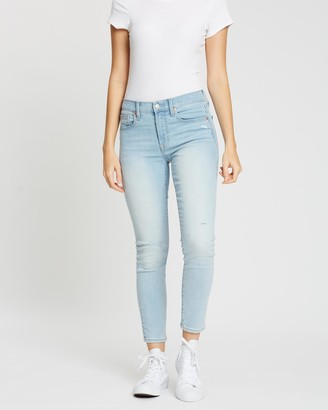 Gap Mid-Rise Destructed True Skinny Ankle Jeans