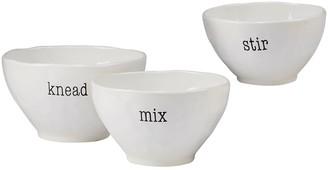Certified International Just Words 3-piece Mixing Bowl Set