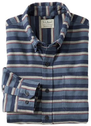 L.L. Bean Men's Comfort Stretch Flannel Shirt, Traditional Fit, Stripe