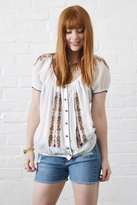 Joie Morgana Peasant Top in Porcelain