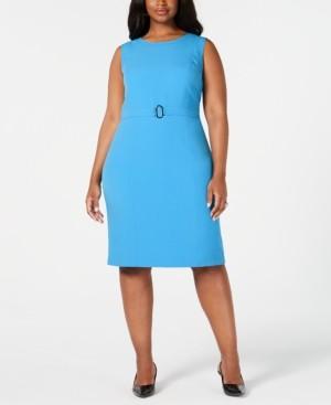 Kasper Plus Size Belted Sheath Dress