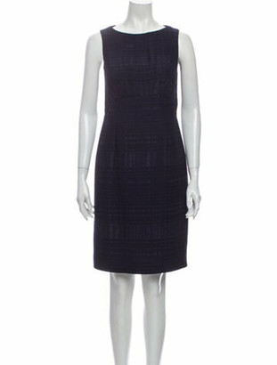 Oscar de la Renta 2015 Knee-Length Dress Blue