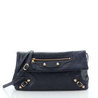 Balenciaga Envelop Blue Leather Clutch bags